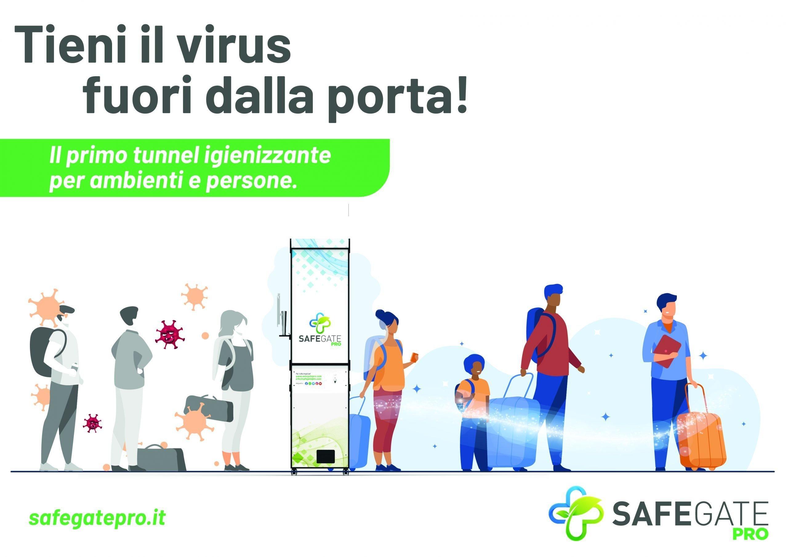 igienizzante e controllo accessi safegate pro