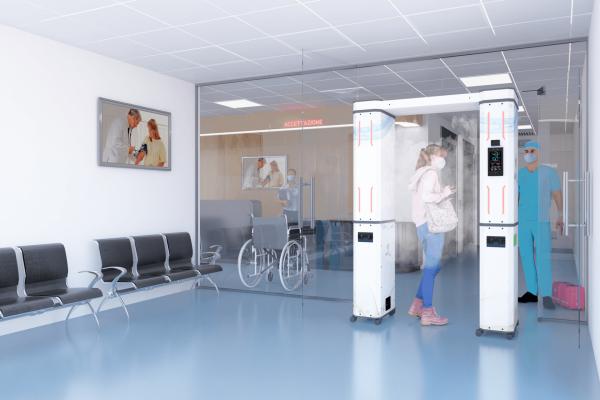 Dispositivi igienizzanti per ospedali, laboratori analisi, poliambulatori